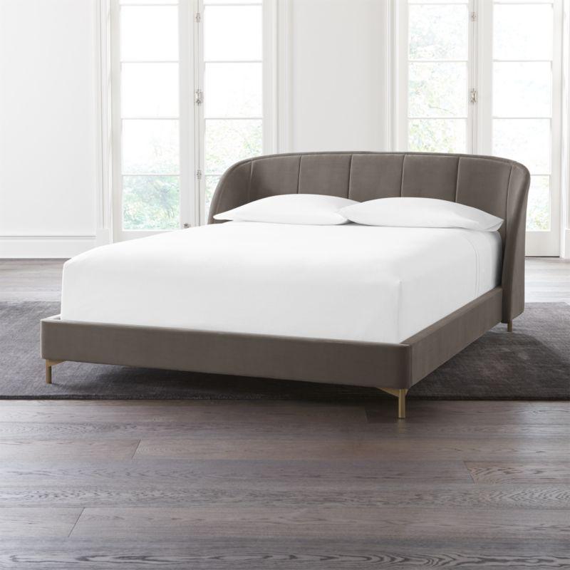 Ava Grey Bed Blue Bedding Platform Bed Designs Bed Furniture