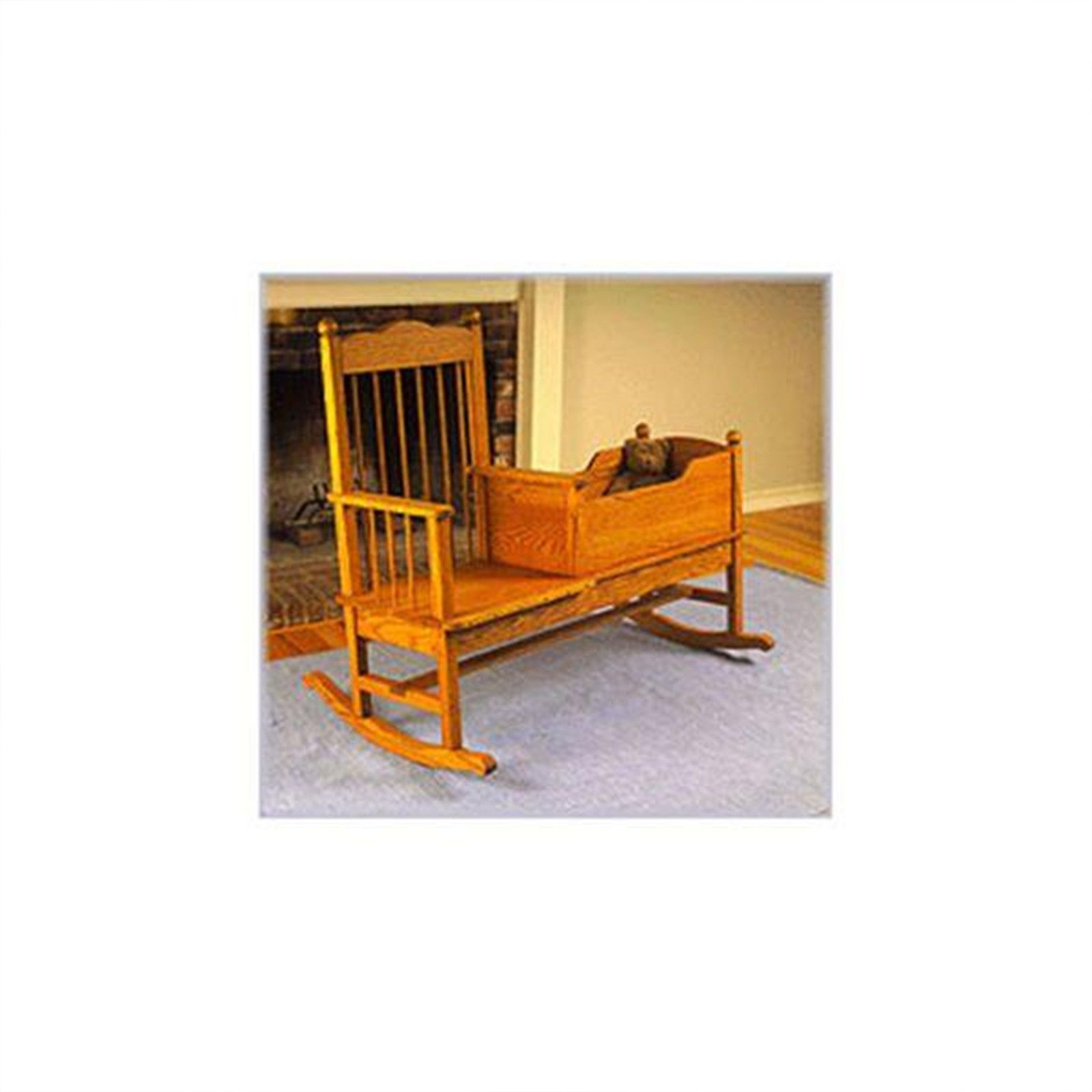Woodworking Project Paper Plan To Build Rocking Chair/Cradle Combo | EBay