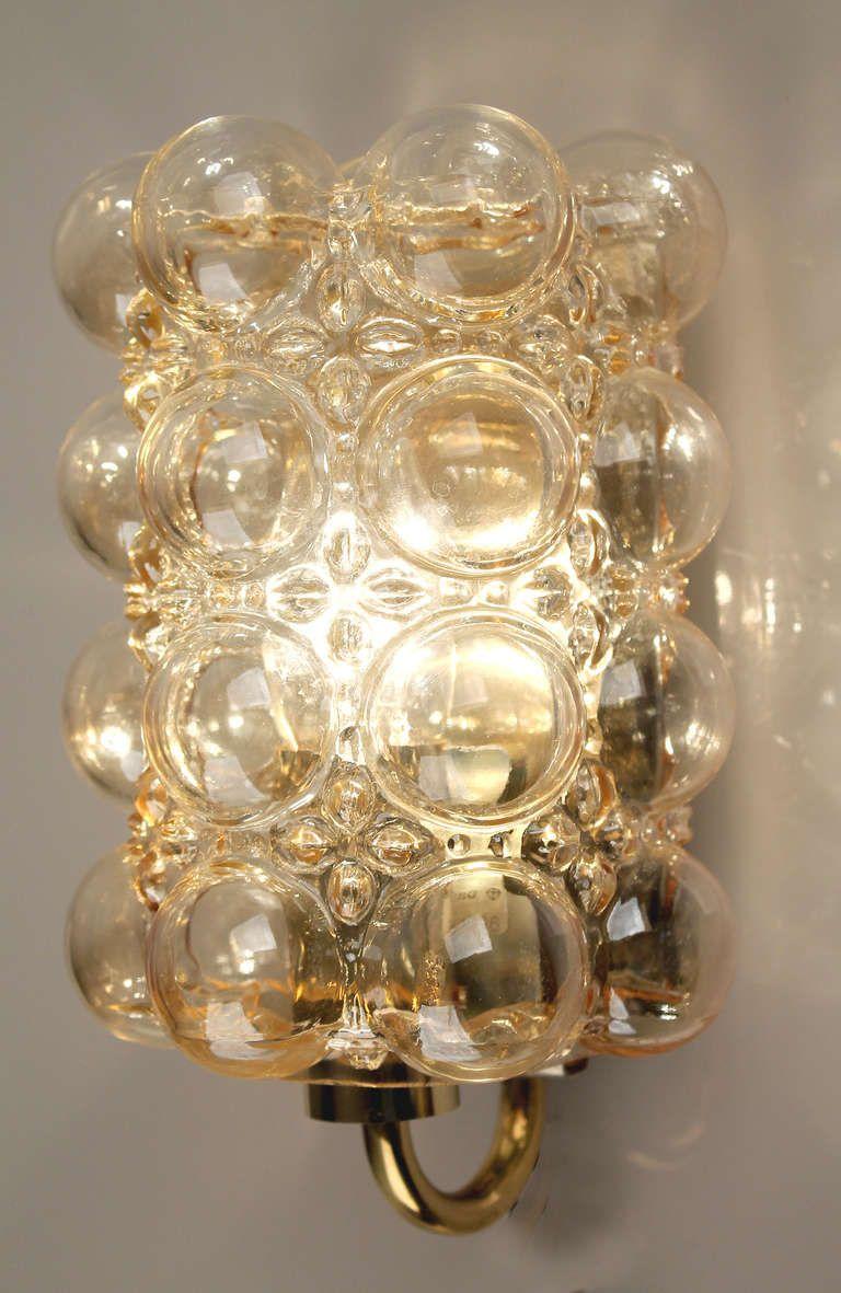 Limburg Helena Tynell Amber Bubble Glass Sconce Wall Light | Laundry ...
