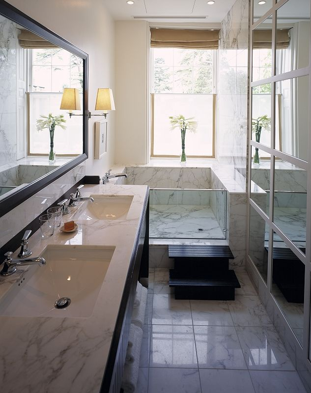 designed long bathrooms. The Grove Hotel by Bathrooms International  Designed Fox Linton Associates