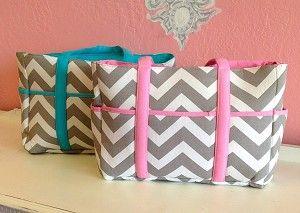 Chevron Diaper Bags