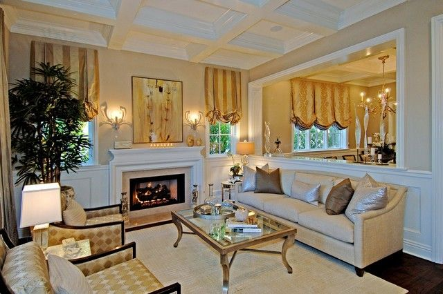 Traditional Living Room By Jill Wolff Interior Design Find This Pin And More On Opening Wall Between