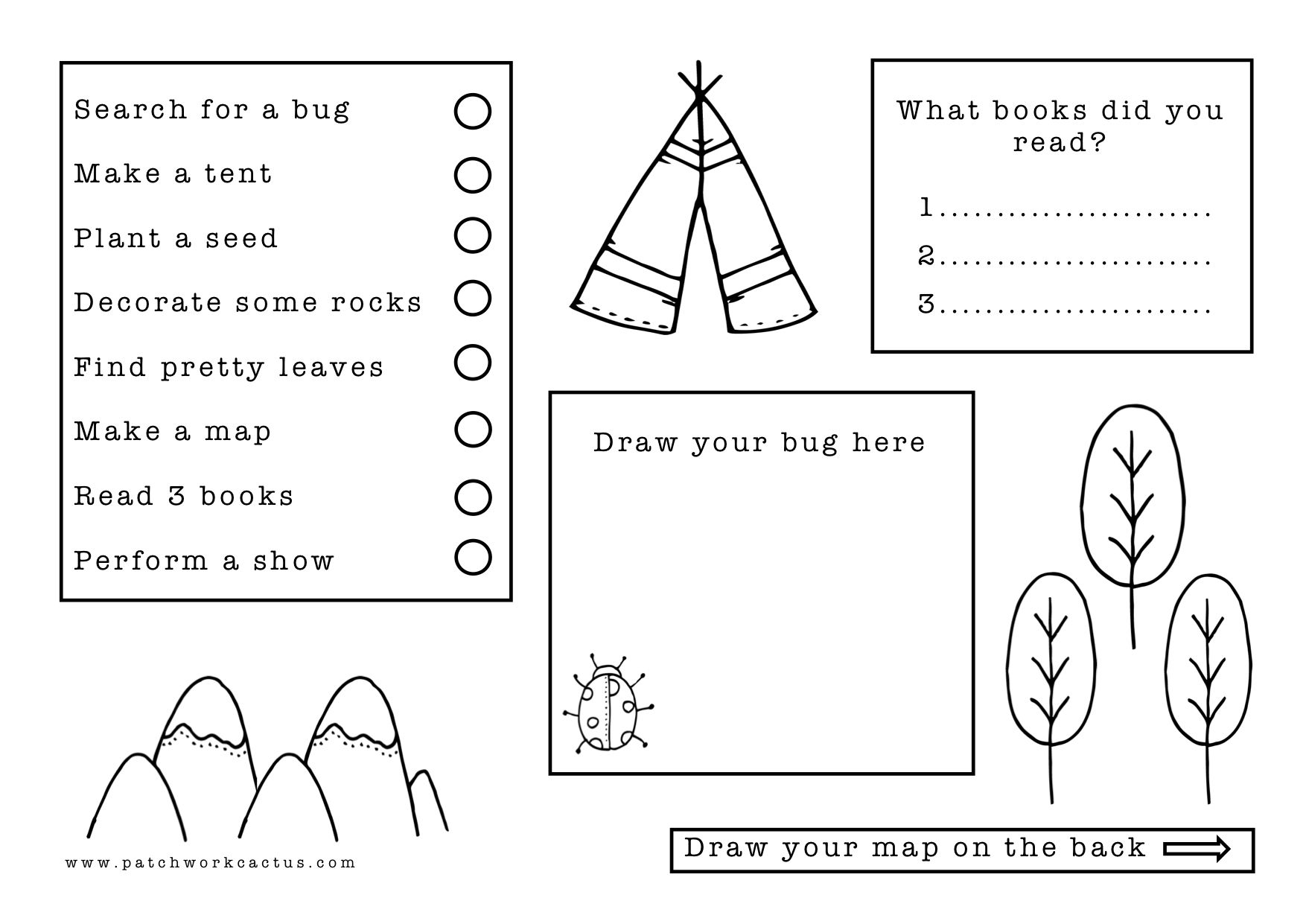 A Printable Winter Checklist For Bored Kids