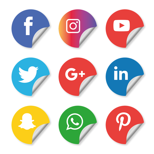 Social Media Icons Set Instagram Whatsapp, Social, Media