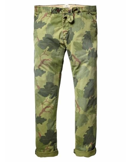 Scotch & Soda - Leaf Camo Chinos