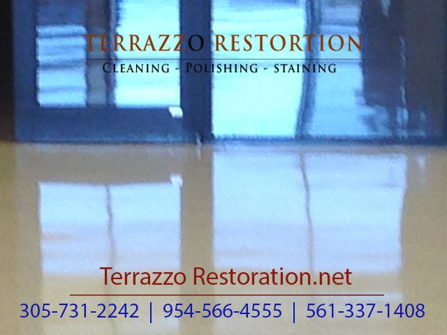 Terrazzo Polishing Process In Fort Lauderdale Terrazzo Floor Care - How to care for terrazzo floors