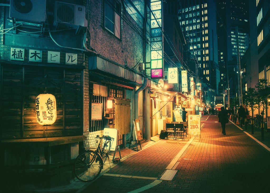 Untitled Night Photography Anime City Desktop Wallpaper City street anime wallpaper