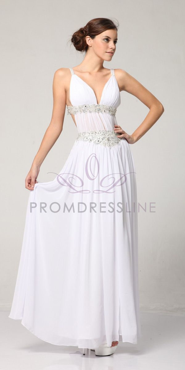 Fabulous Rhinestone Banded Greek Style Prom Dress S3072 17300 On