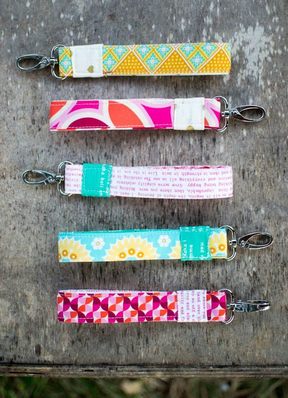 Wrist strap keychains - from a free sewing tutorial!