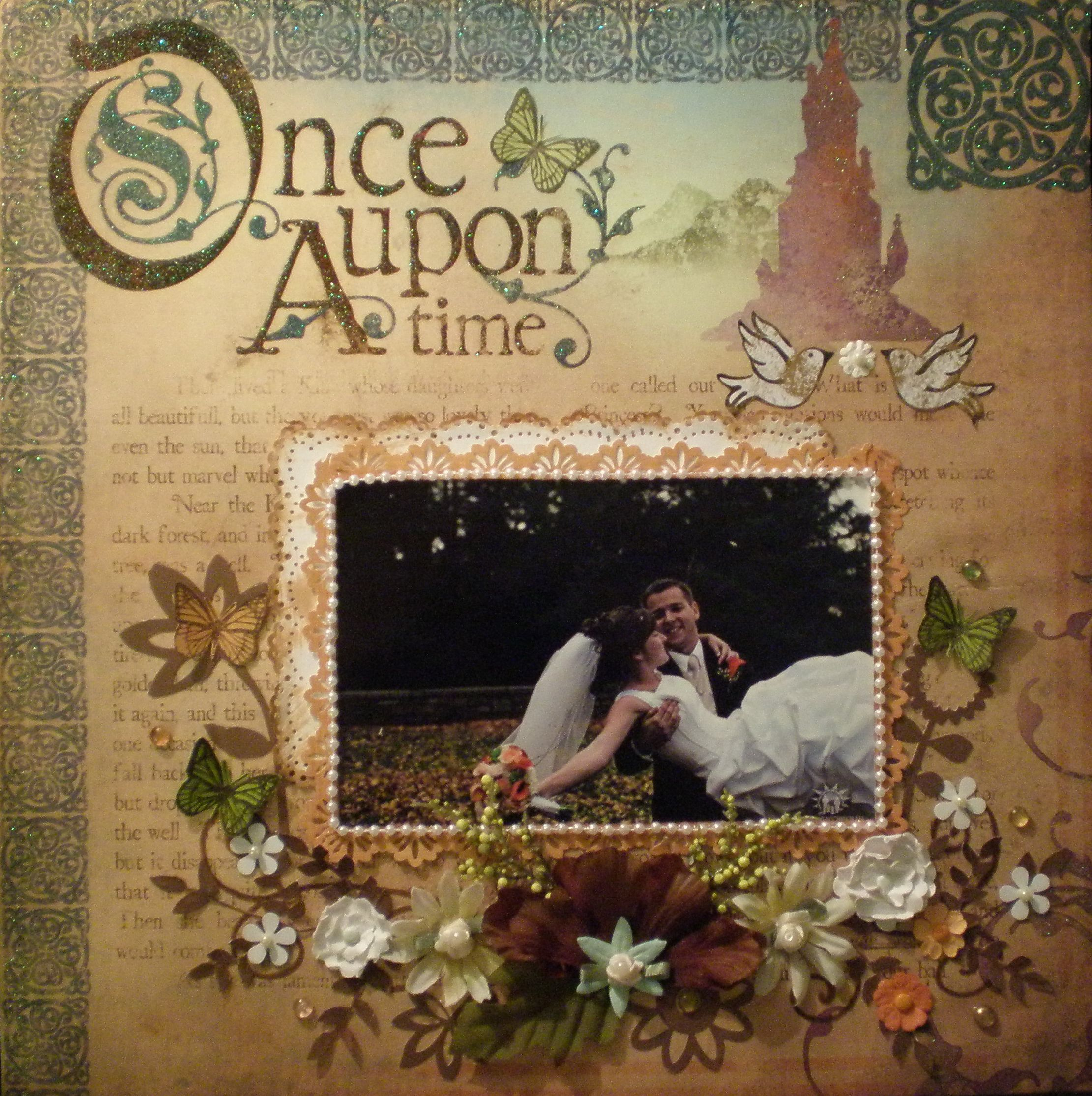 Once upon a time - Scrapbook.com ink with daubers