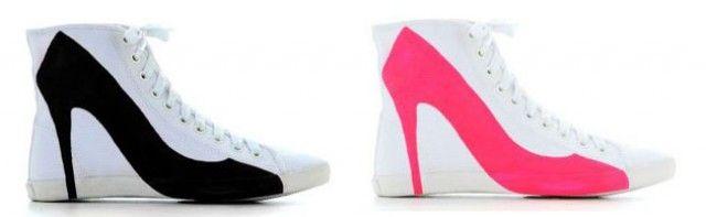 stiletto sneakers  major fail but hilarious!