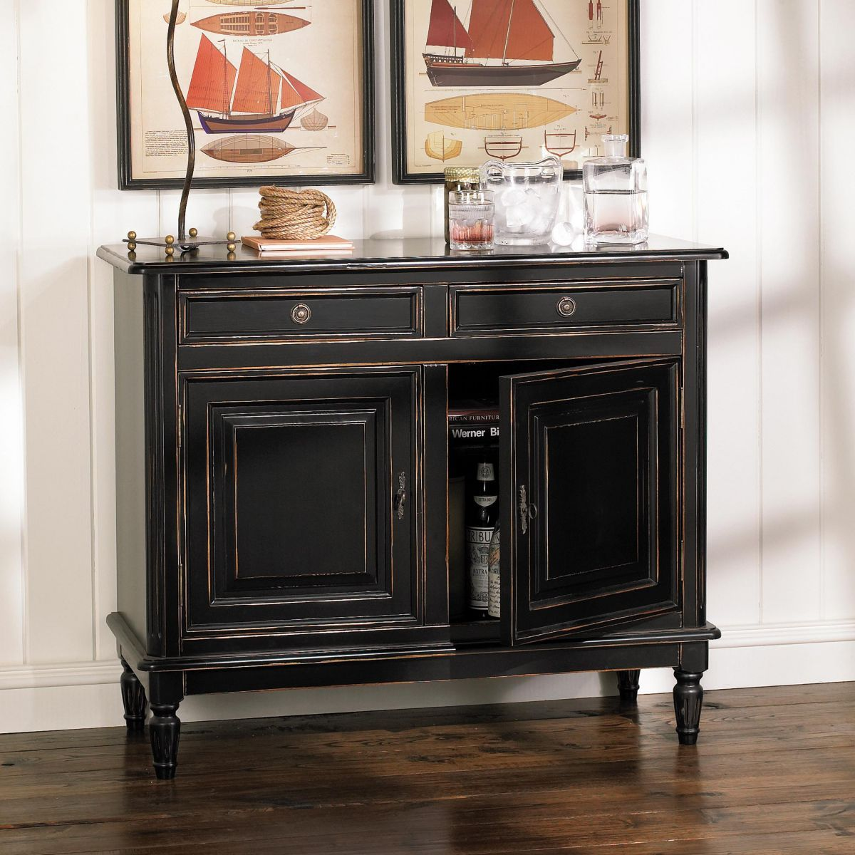 dehavilland 2-drawer console table | family room | furniture