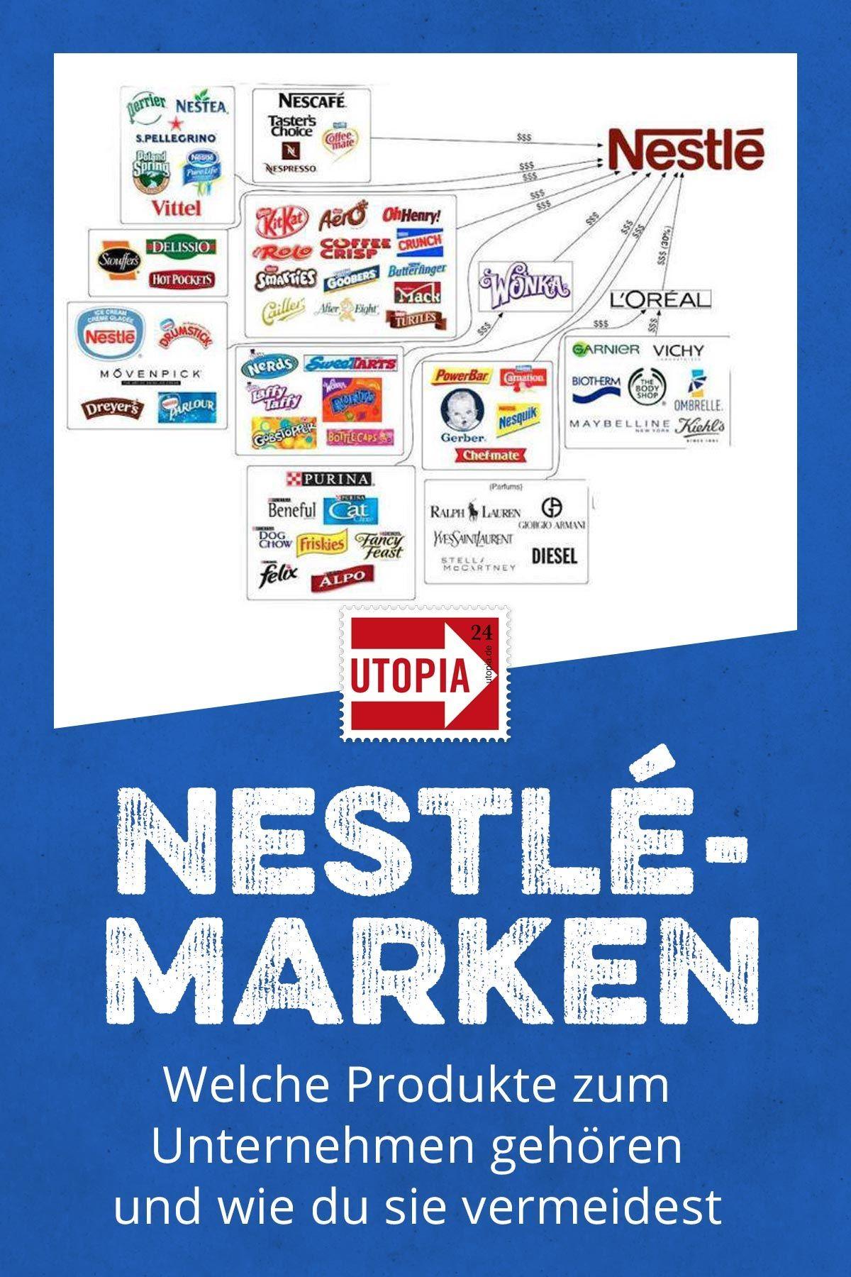Nestle Marken Diese Produkte Gehoren Zum Unternehmen