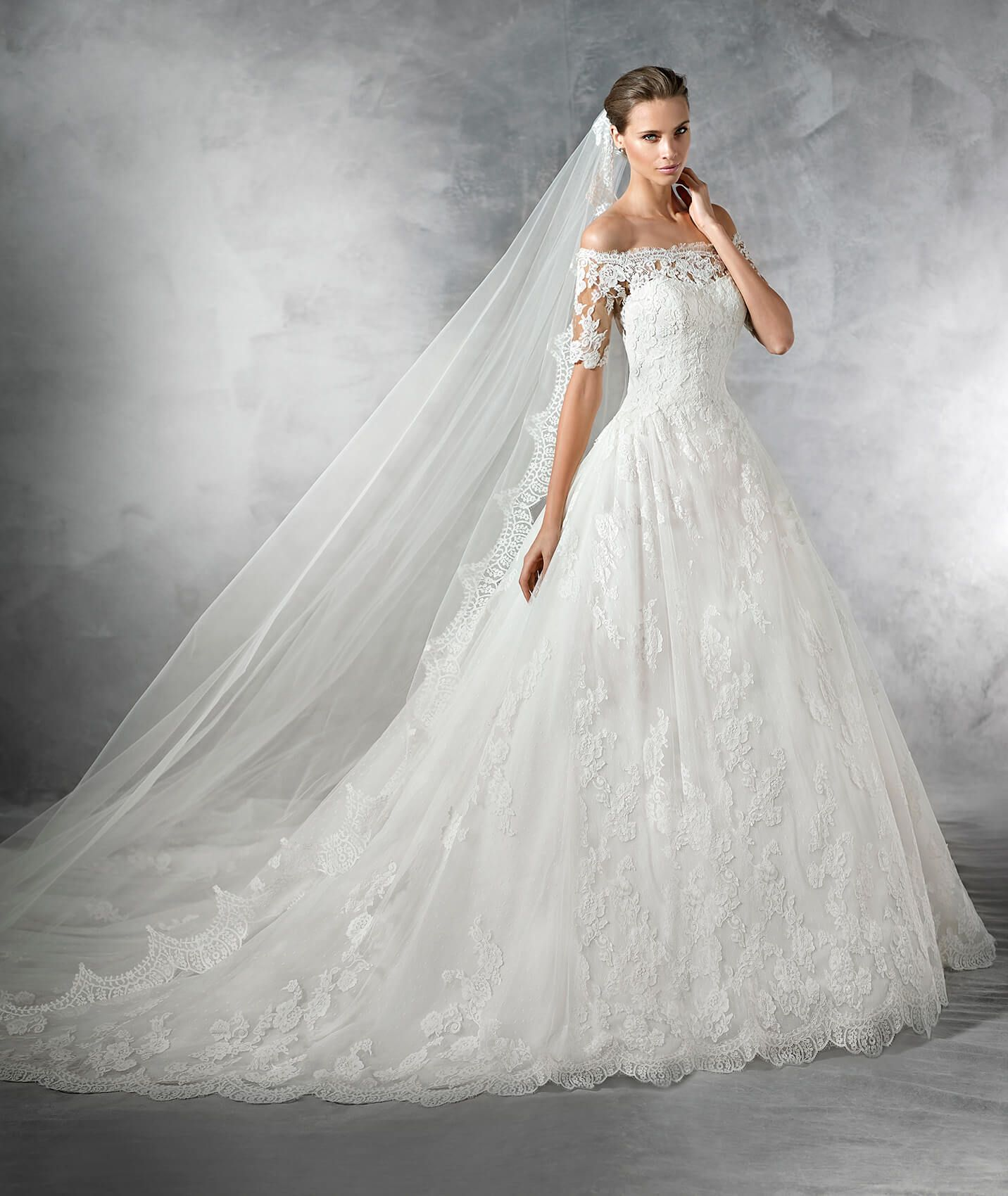 PLEASANT - Vintage-inspired wedding dress in tulle with a low waist ...