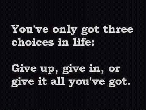 3 life choices