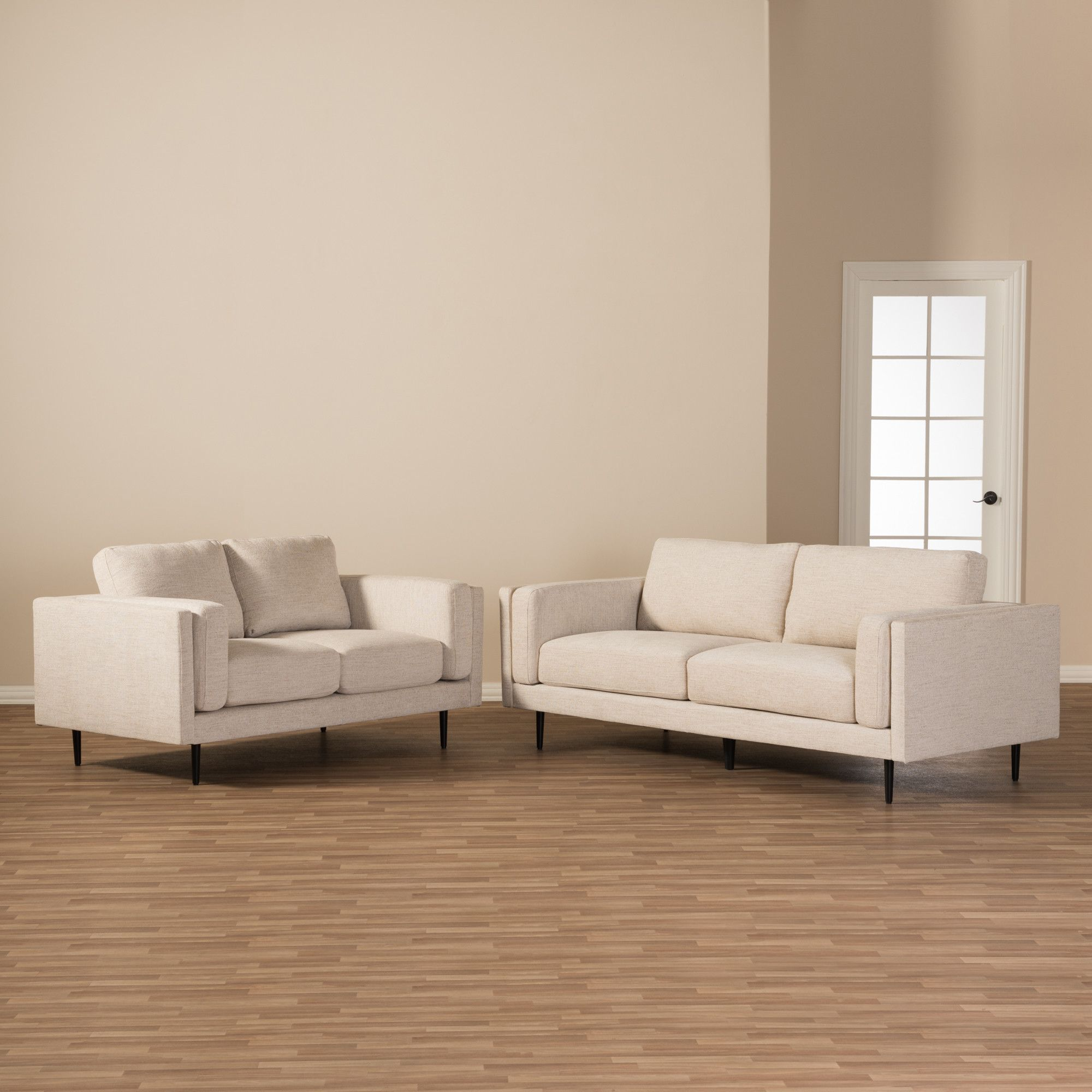 Baxton Studio Brittany Retro Mid-Century 2 Piece Living Room Set ...