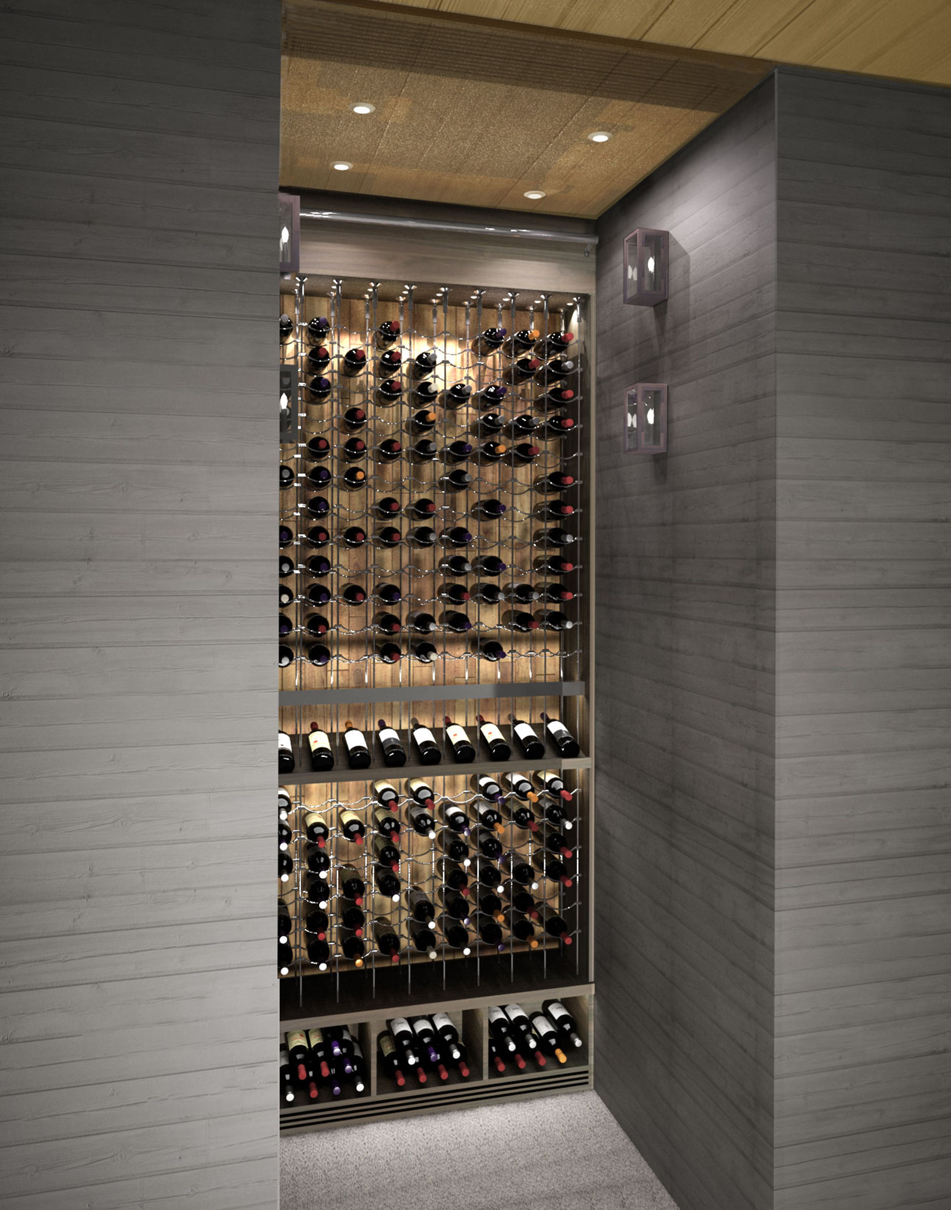Small Space Huge Impact This Custom Wine Cellar By Papro Consulting Ltd Www Paproconsulti Featuring The C Home Wine Cellars Glass Wine Cellar Wine Closet