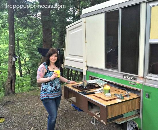 Karrie S Apache Pop Up Camper Makeover The Pop Up Princess Pop Up Camper Camper Makeover Remodeled Campers