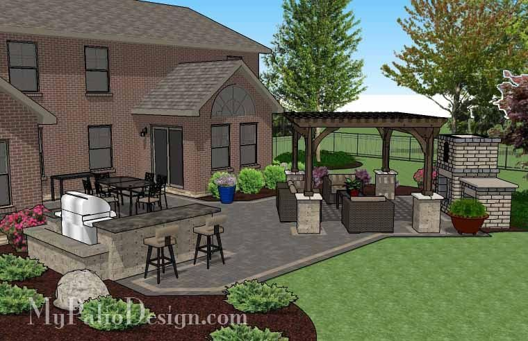 paver patio with pergola.  With 6f431250dec5faa7ed4837c01f137f0djpg Intended Paver Patio With Pergola O