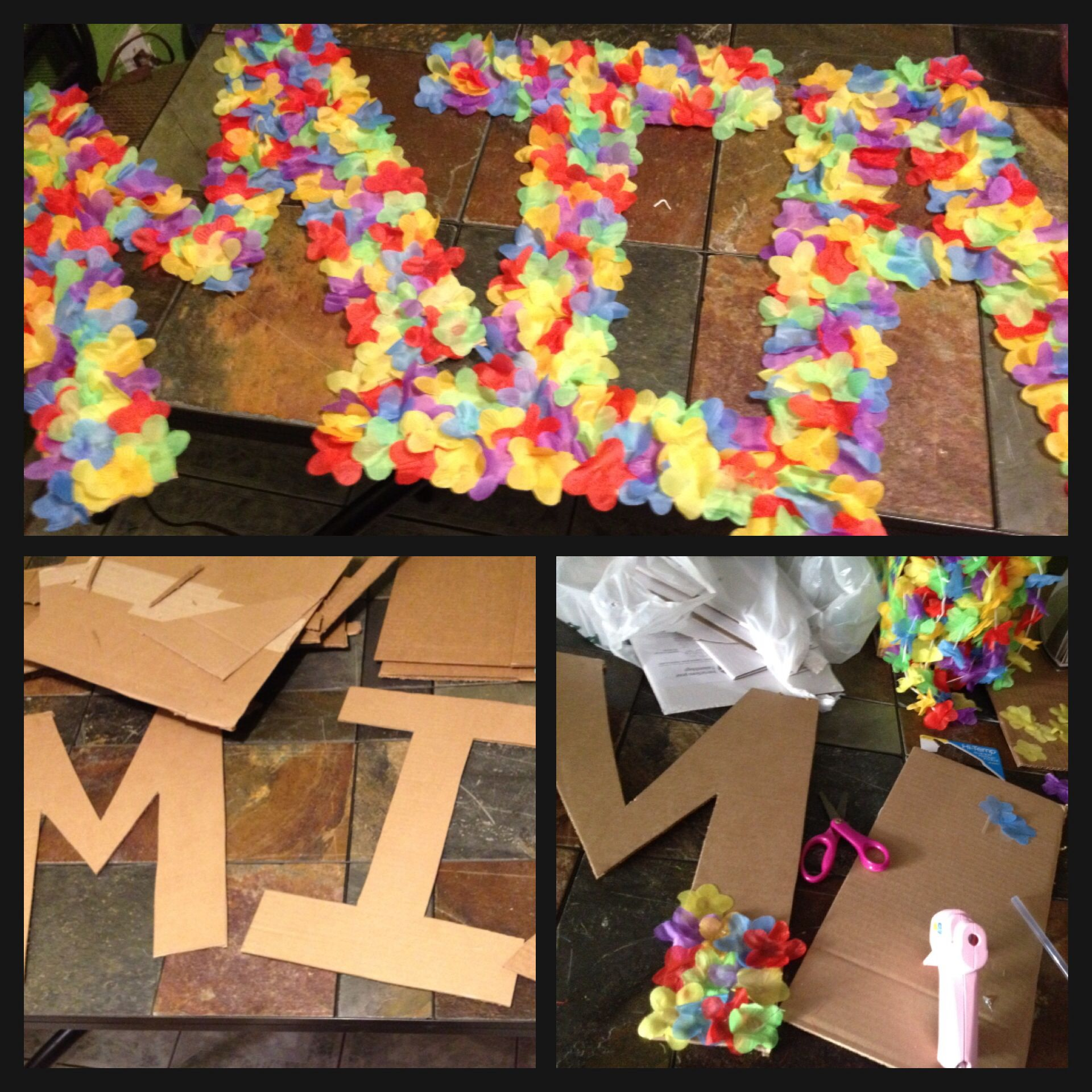 Diy luau board name diy arts and crafts pinterest for 50th birthday party decoration ideas diy