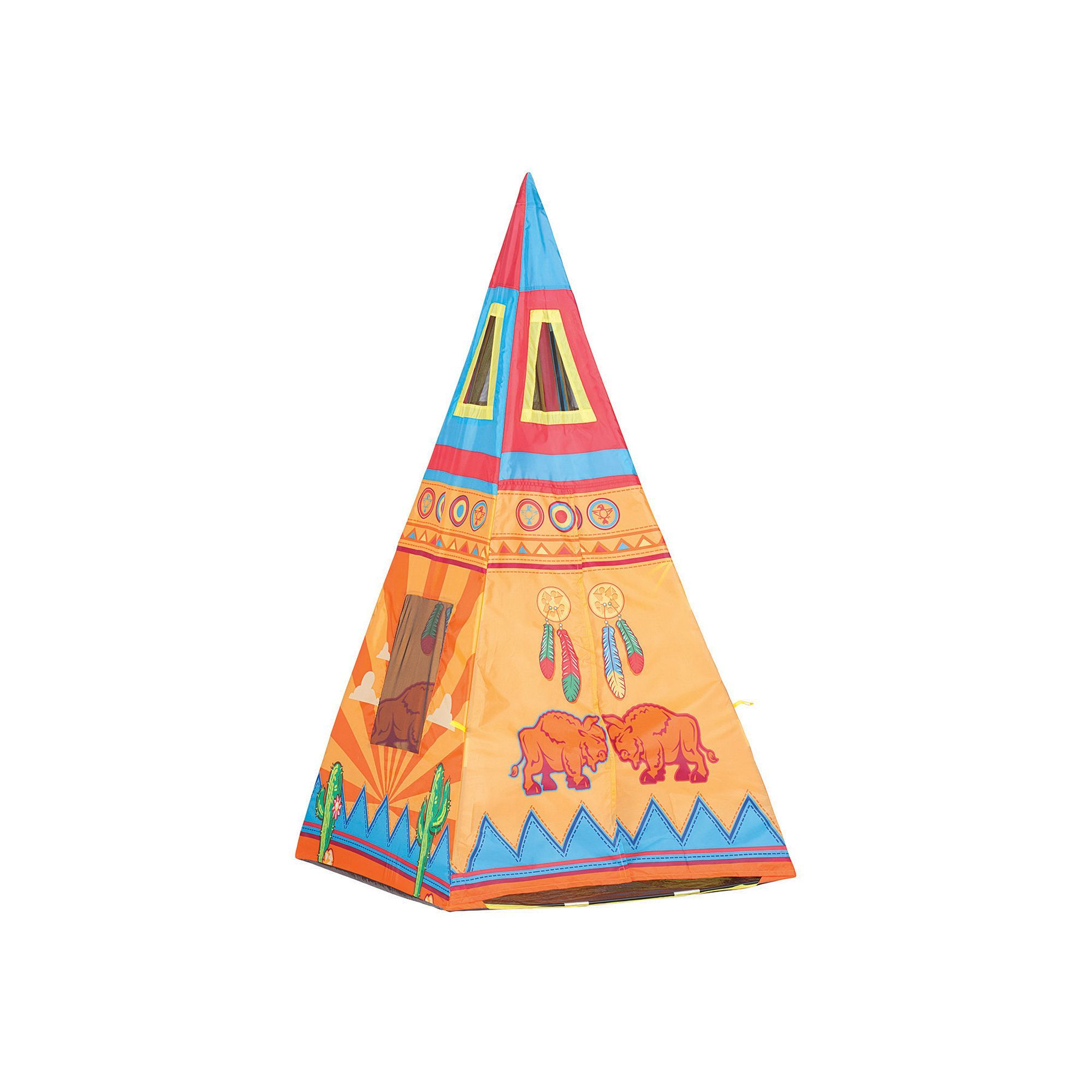 Pacific Play Tents Santa Fe Teepee Tent Multicolor Durable  sc 1 st  Pinterest & Pacific Play Tents Santa Fe Teepee Tent Multicolor | Tent Plays ...