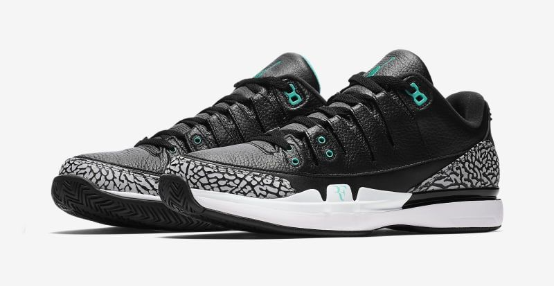 3684b1180fbc The Nike Zoom Vapor Roger Federer x Air Jordan 3  Clear Jade  will release  in October.