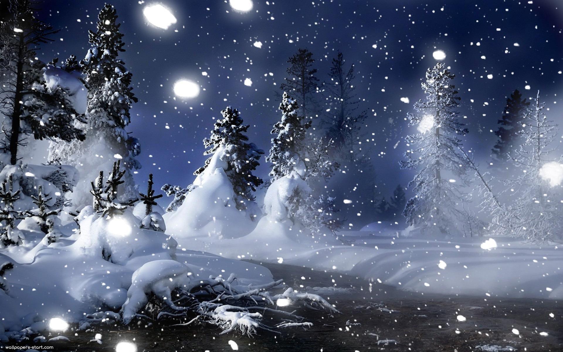 1920x1080 Snow At Night Wallpaper Winter Desktop Background Winter Wallpaper Hd Winter Wallpaper