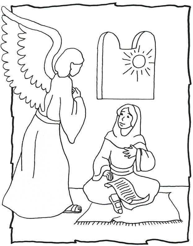angel gabriel and mary | Christmas ideas: Nativities | Pinterest ...