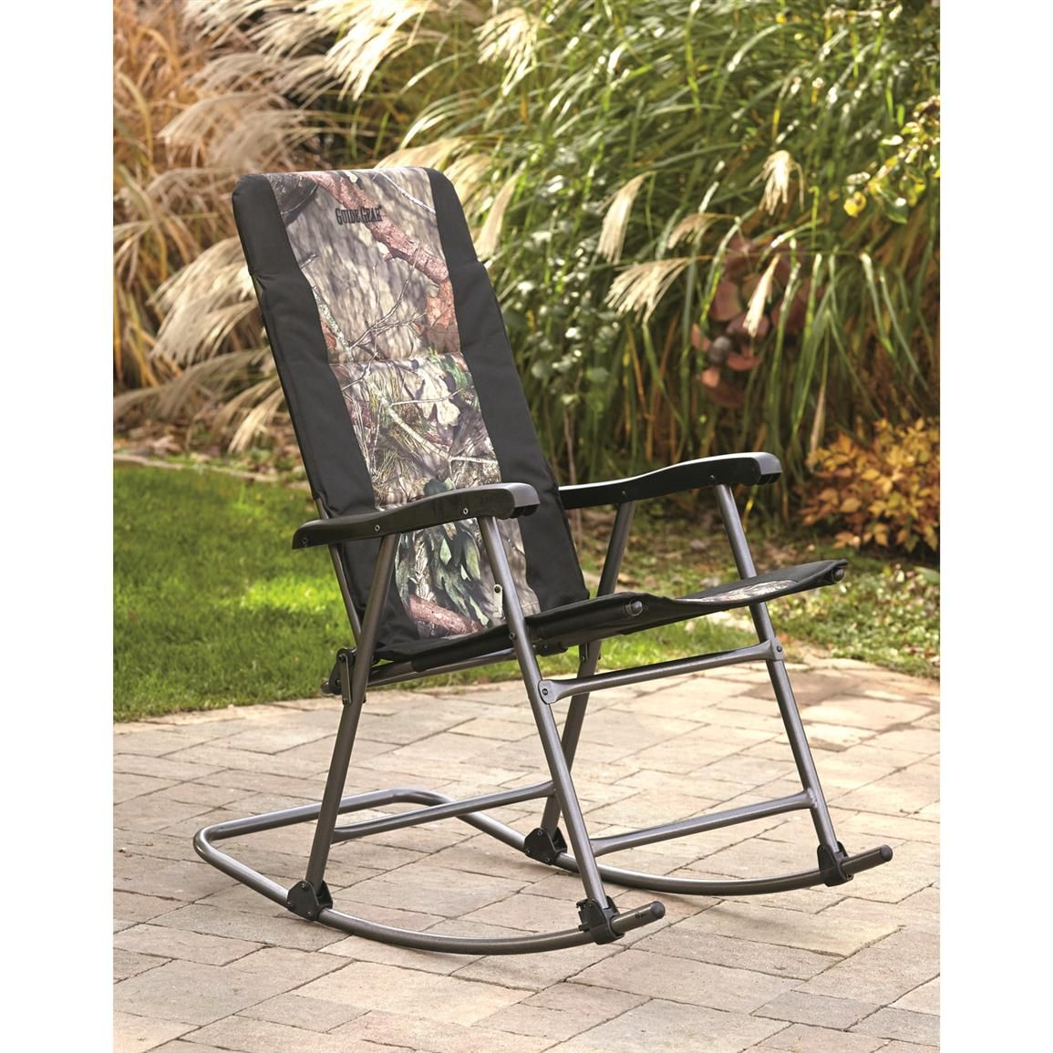 Camping Rocking Chairs Soft For Adults Guide Gear Oversized Mossy Oak Camo Chair 500 Lb Capacity 676358 At Sportsman S 79