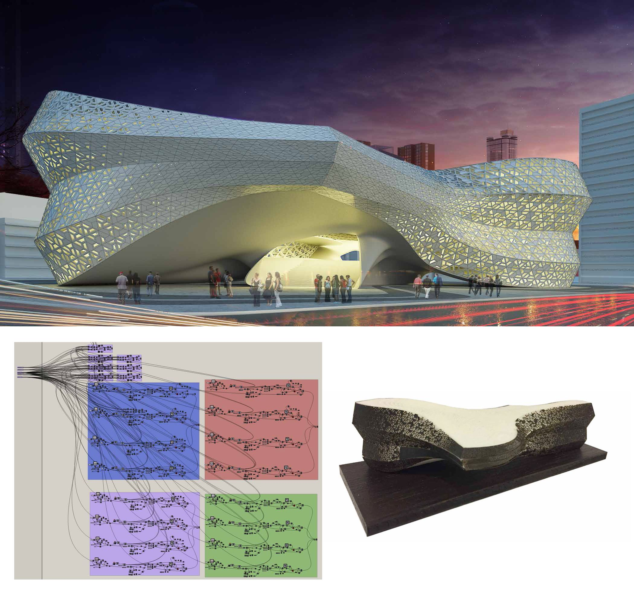 Image: James Chadud (Brazil) VI Edition students #parametricdesign #rhino3d #master #course #rhinoceros #grasshopper3d #revit #3Ddesign #3Dmodeling #architecture #nurbs #madrid #advanced