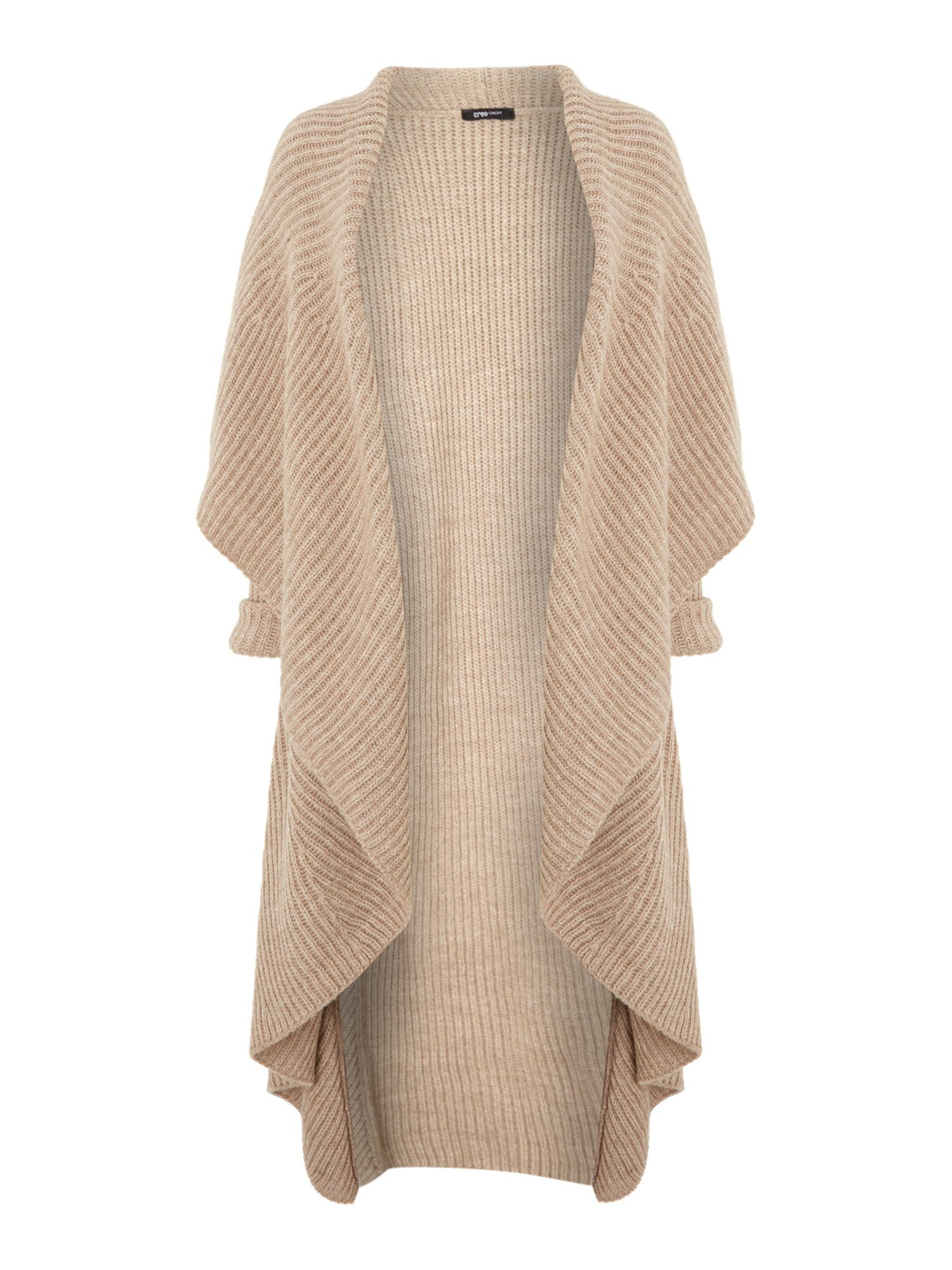 Crea Concept Chunky ribbed long cardigan