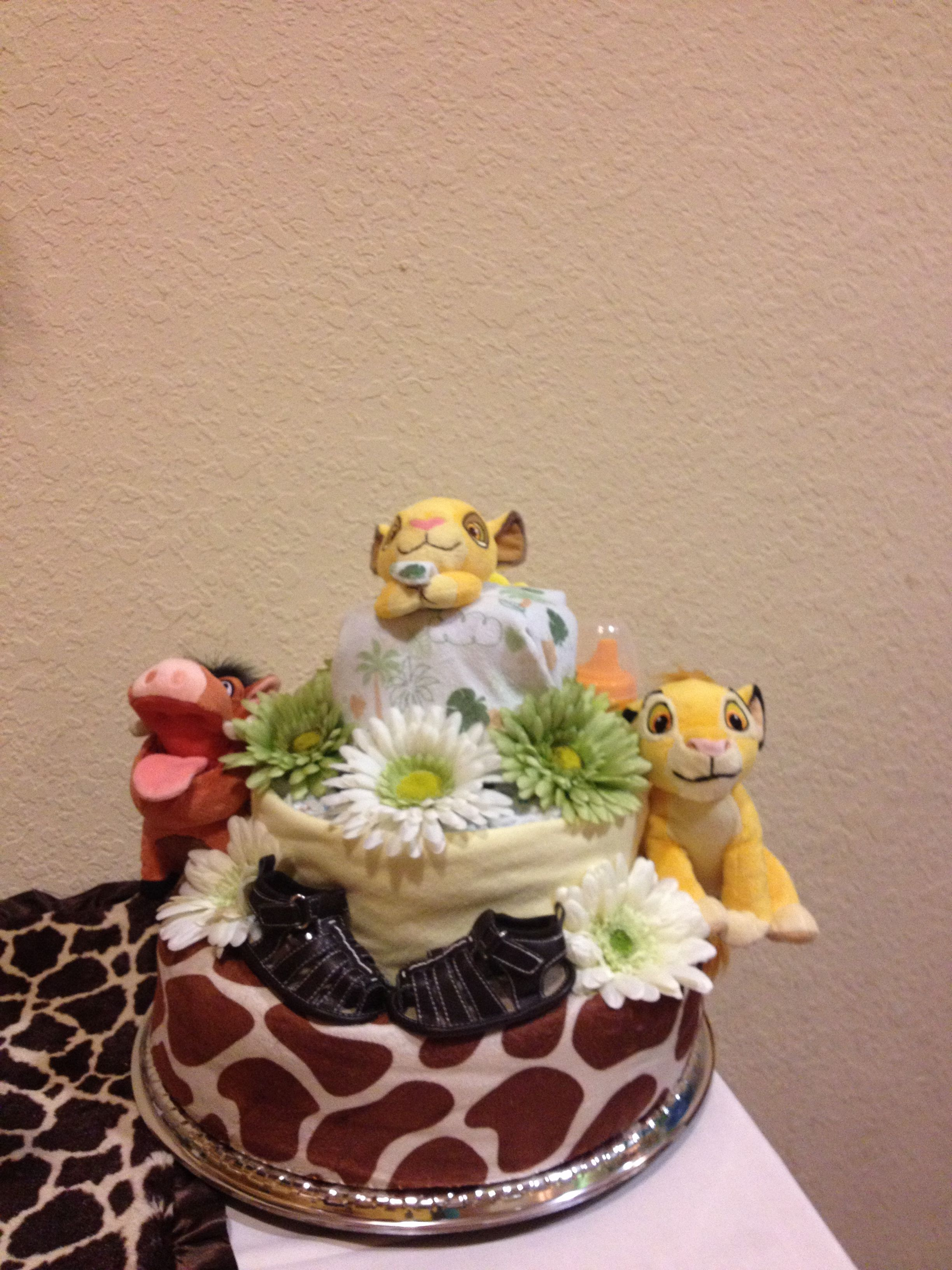 Lion King Diaper Cake   Soft Touch 4 Babies Diaper Cakes ...
