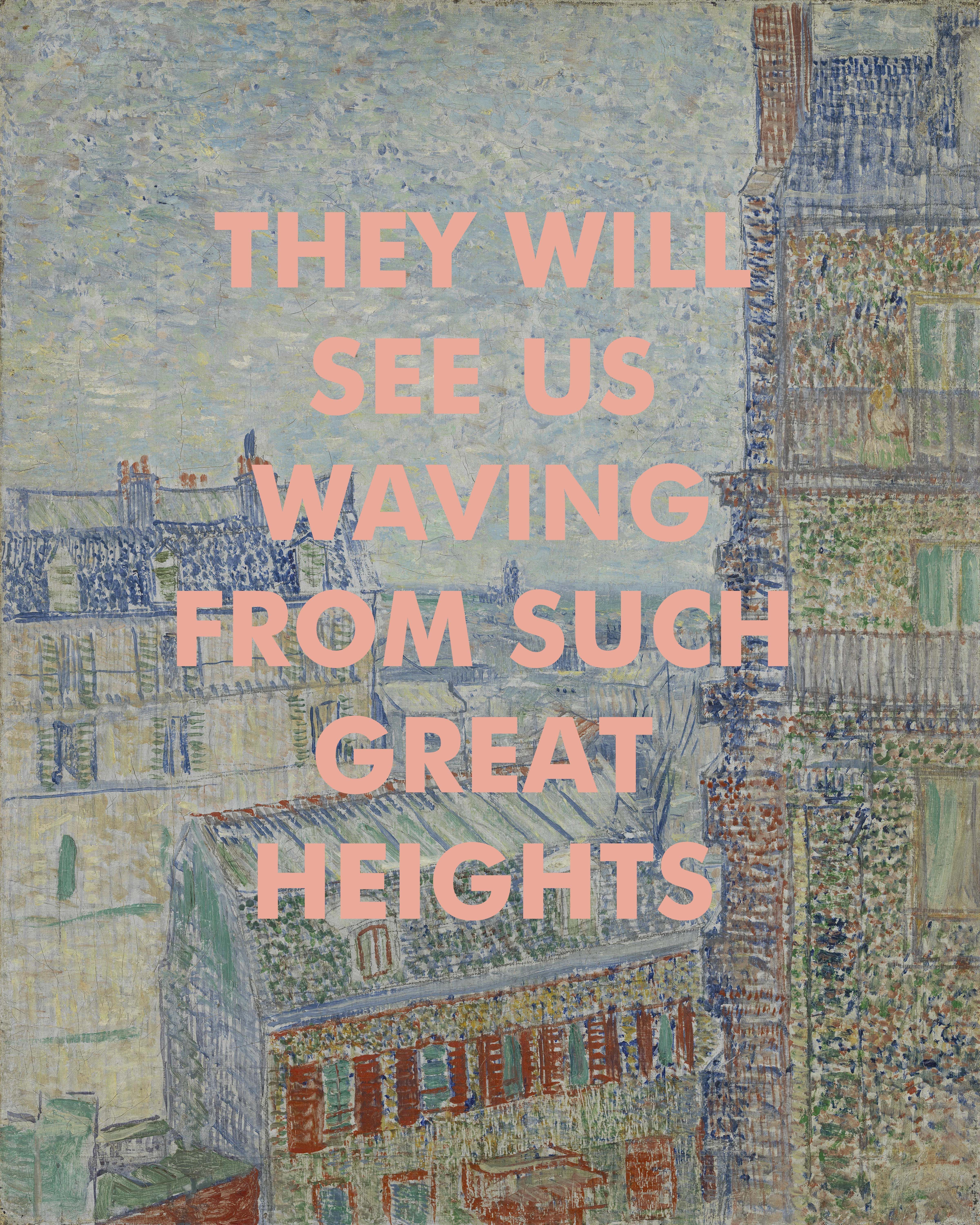 Such Great Heights song lyric typography print THE POSTAL SERVICE 4 sizes