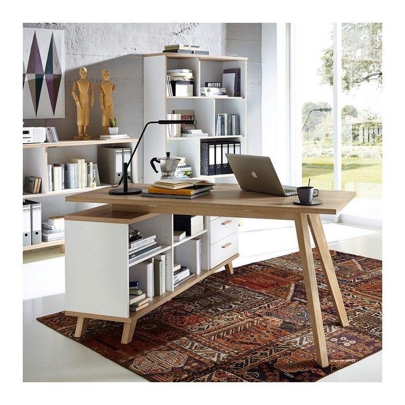 bureau d 39 angle gauche ou droit scandinave avec rangements malmo table pinterest. Black Bedroom Furniture Sets. Home Design Ideas