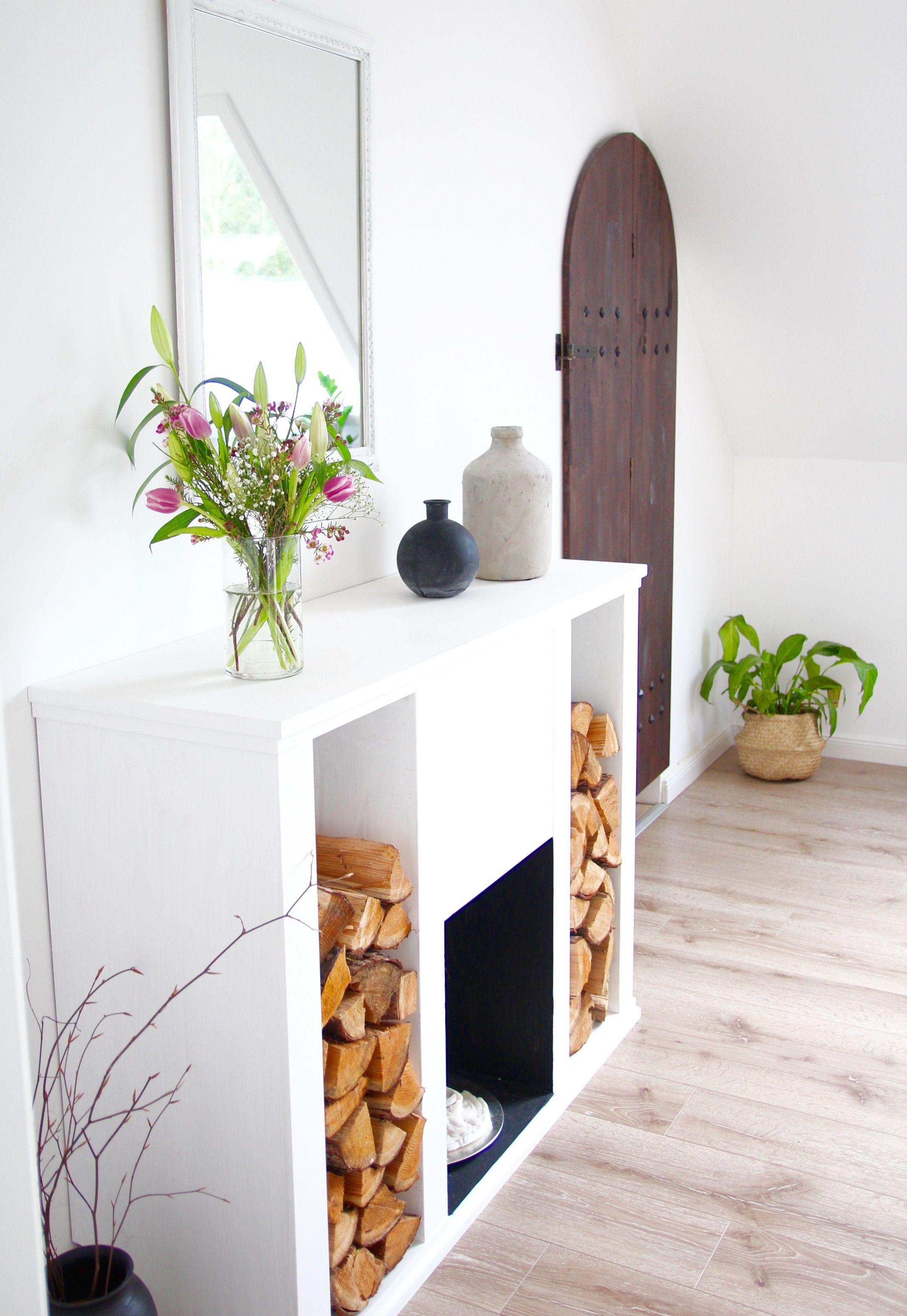 DIY Kaminkonsole selbst bauen   Einrichtungsideen, Kaminkonsole und ...