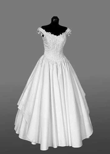 Simple elegance. I love this dress!   White   Pinterest   Wedding ...