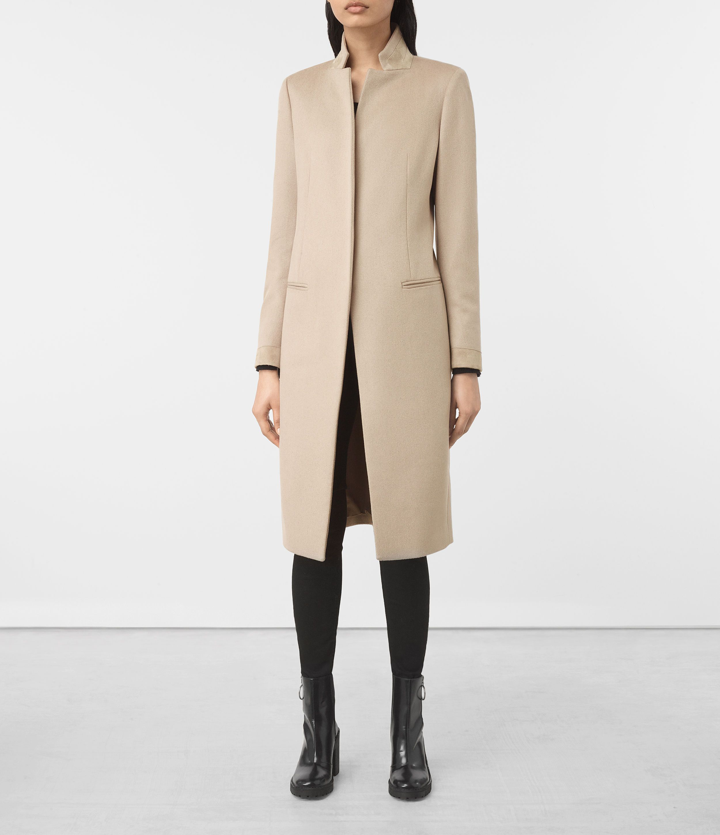 ALLSAINTS UK: Womens Odile Coat (SAND BROWN)