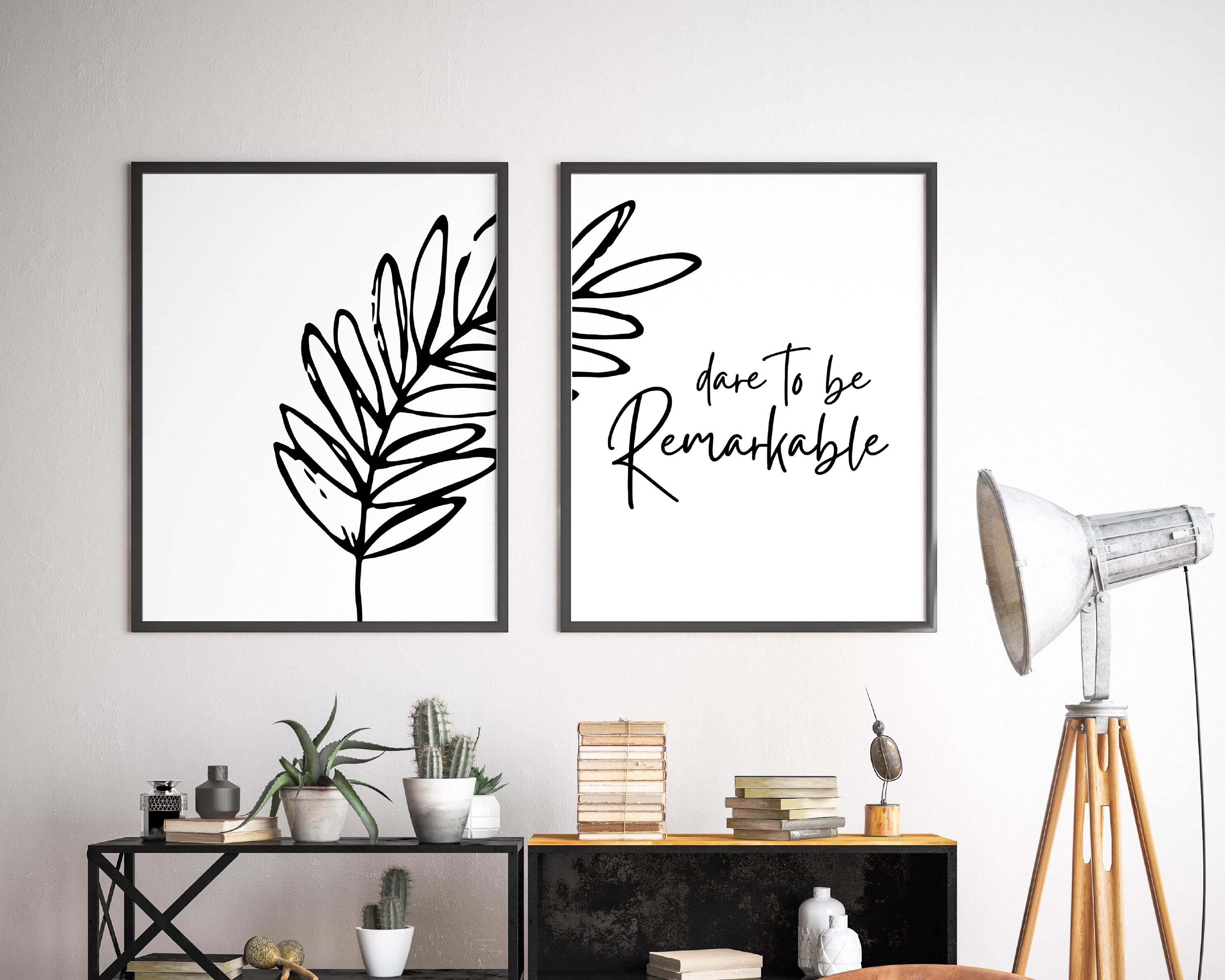 Set of 2 Prints Dare to Be Remarkable Print Inspirational   Etsy