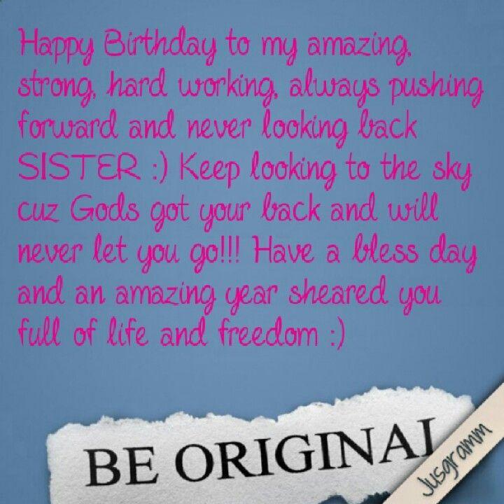 Happy Birthday 16 Quotes: Happy Birthday Sister !!!