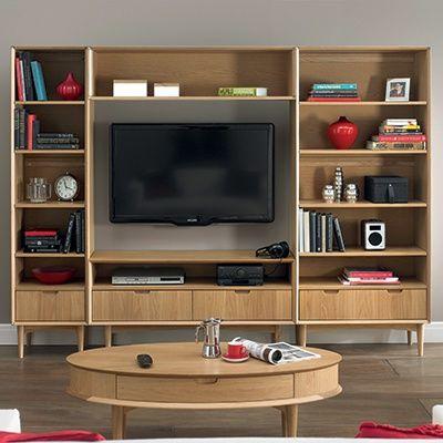 Charlbury Entertainment Unit Oak Oak Furniture Living Room Furniture Bentley Design