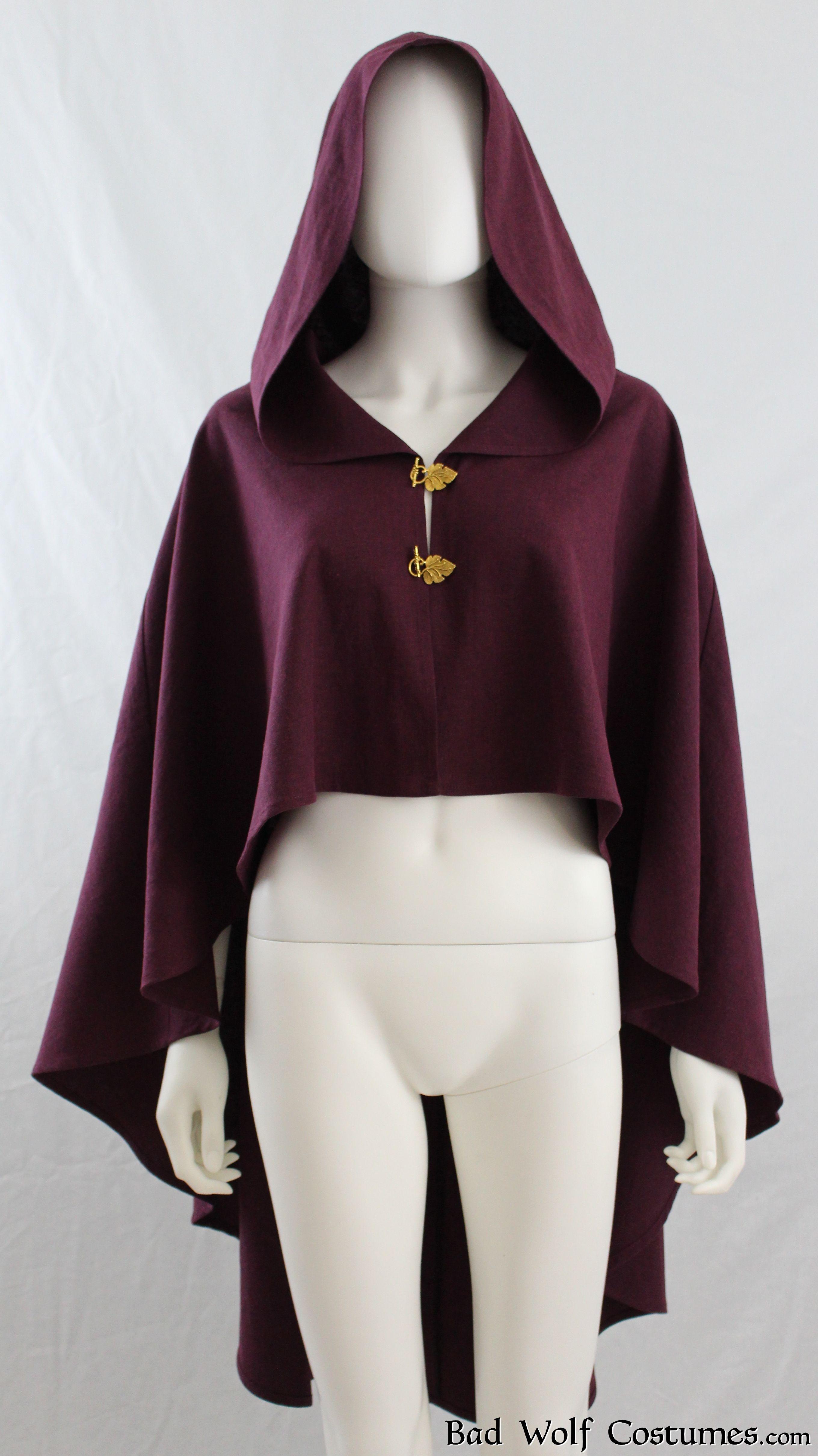 36e107f680 Hooded Cloak - Color Options! - Linen Cape Poncho - Fantasy
