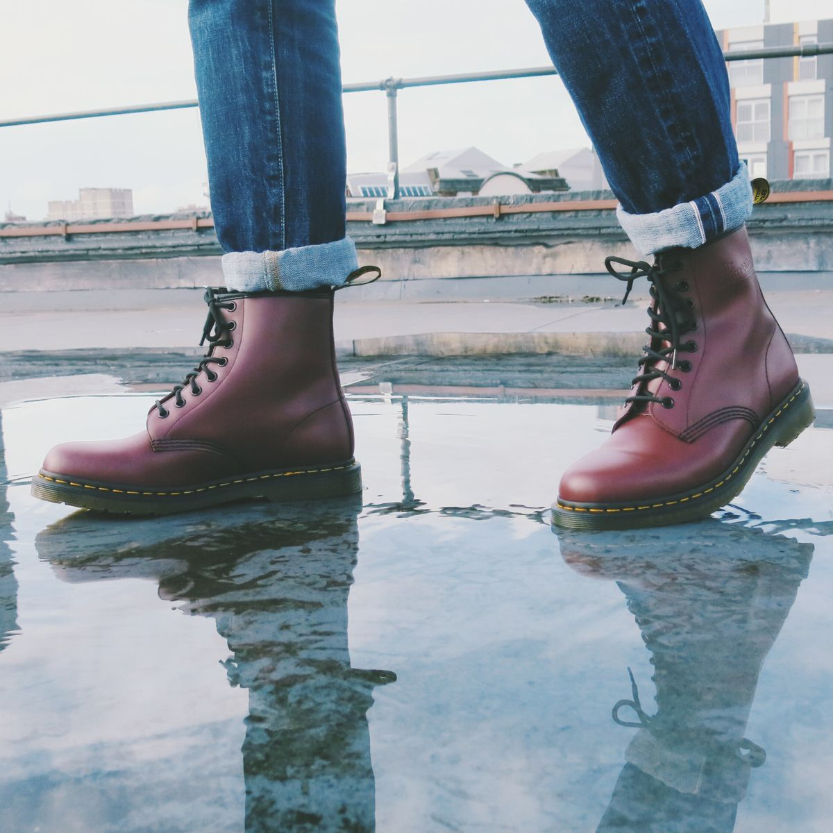 74c2d9a0dbde71 Dr. Martens cherry red 1460 Boot. this pair of boots would change my life