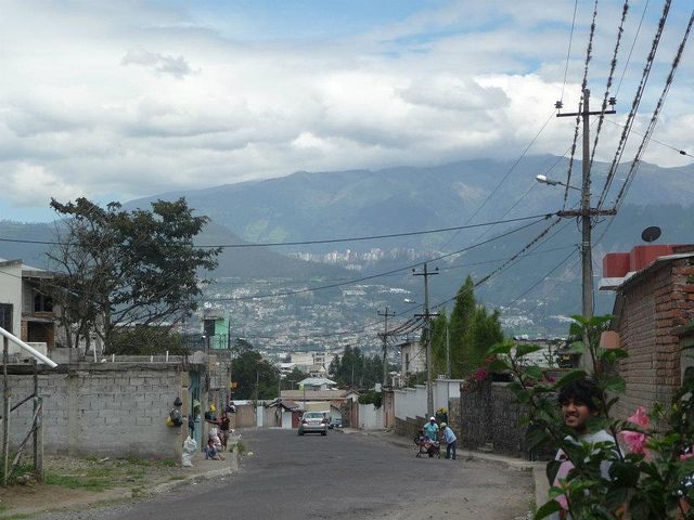 A view of one of Quito, Ecuador's many hills. #VolunteerInEcuador