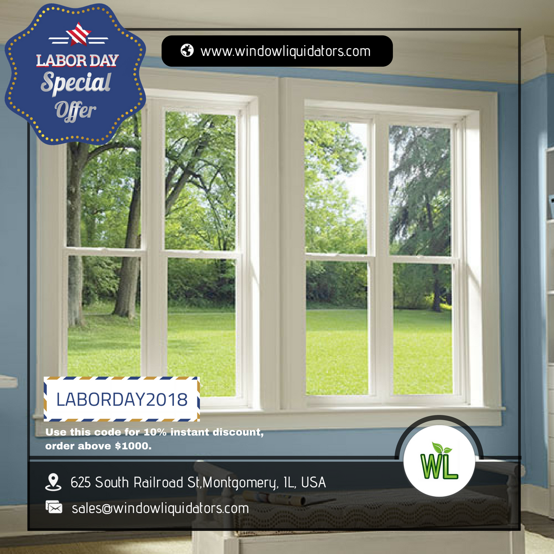 Get 10 off on vinyl windows online a special offer for labor day is started lets take and advantage of this offer with best price guarantee and free