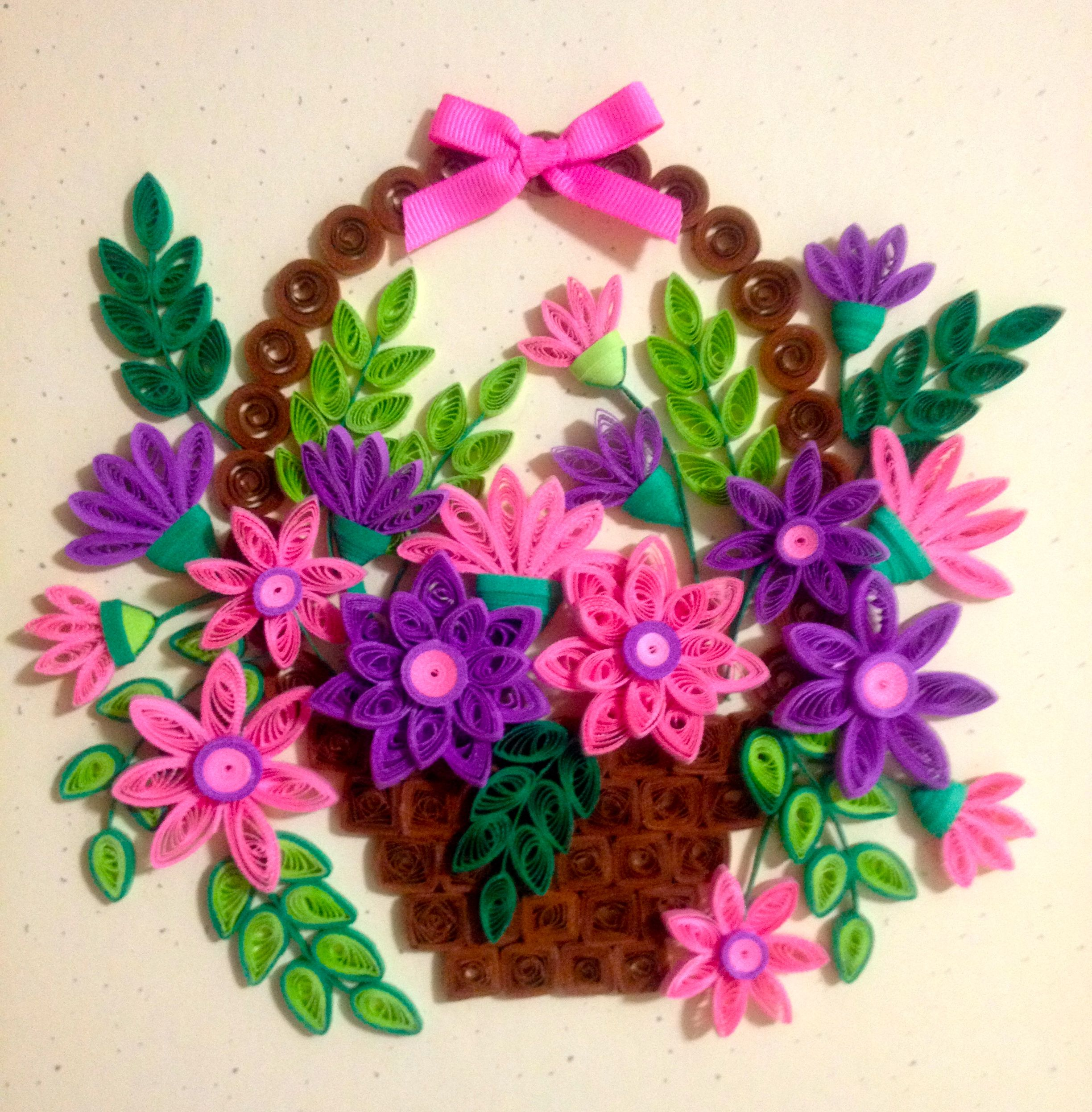 A Basket Of Flowers Quilling Pinterest Quilling Quilling