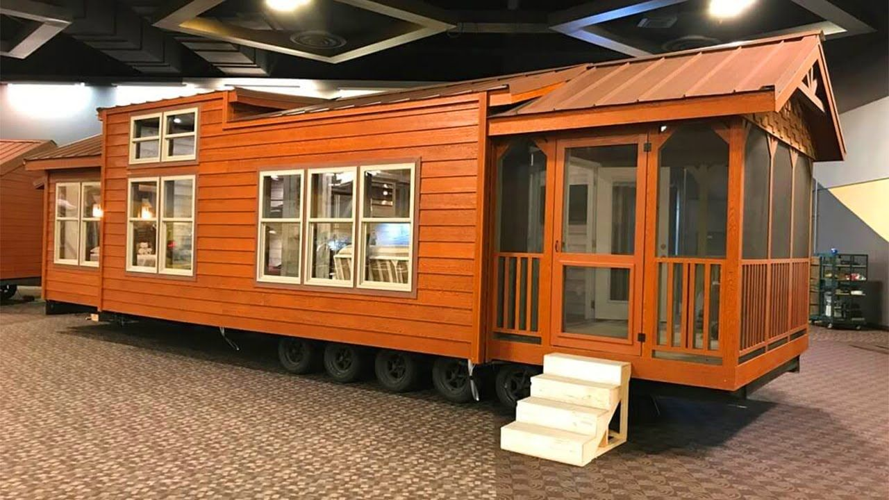 Tiny Home Designs: Gorgeous Rustic Beautiful The Mallard Custom Park Model For Sale
