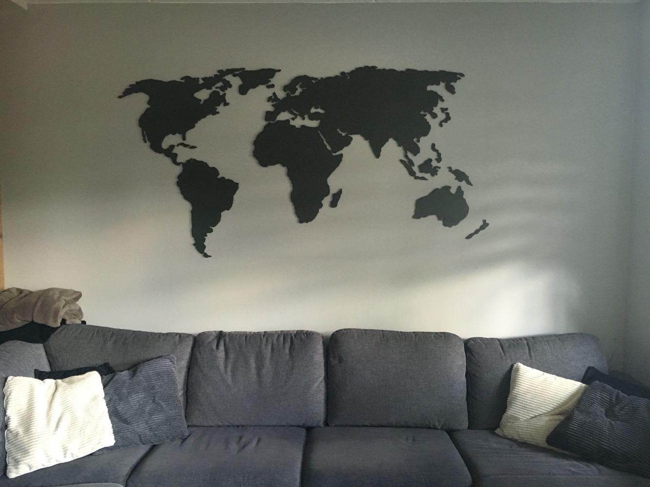 Woonkamer Met Wereldkaart : Stalen wereldkaart in de woonkamer 😍 woonkamer wereldkaart en