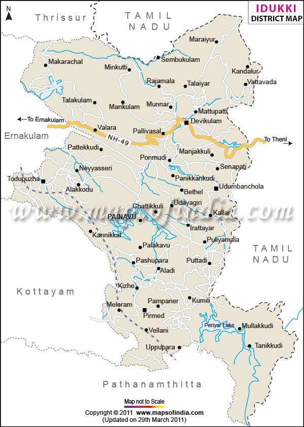 Idukki District Map | idukki map | Pinterest | Kerala