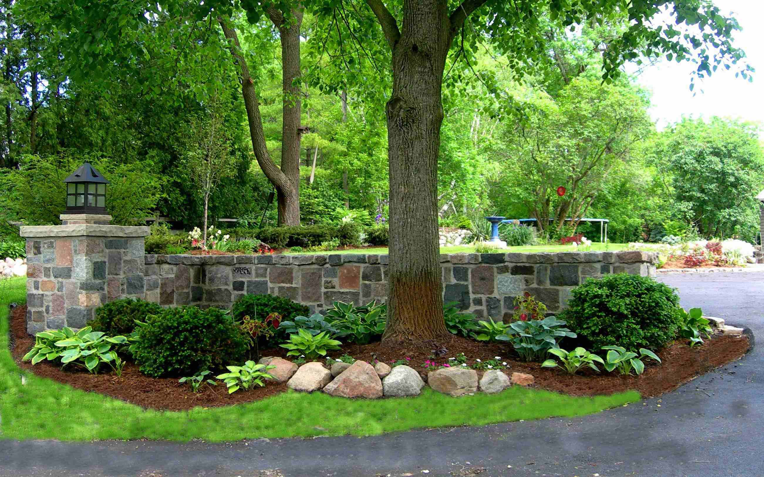 Beautiful Stone Garden Walls Driveway entrance Driveways and