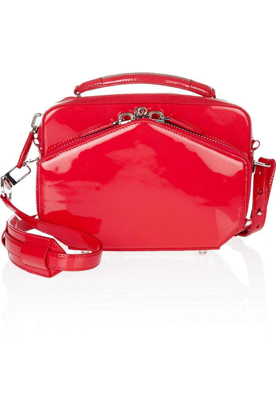 9ef2bac1c8b0 Rafael patent-leather shoulder bag by Alexander Wang  red  handbags ...